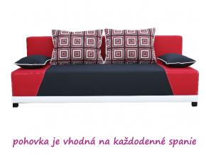 Pohovka ROKAR / čierna-červená