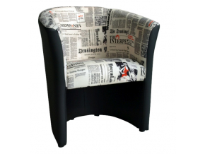 Kreslo CUBA / ekokoža vzor noviny