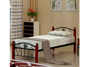 Jednolôžková kovová posteľ MAGENTA / 90x200