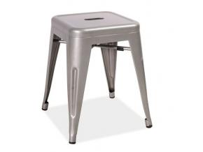 Kovový taburet SPOT / aluminium