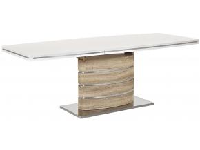 Jedálenský stôl FANO biely lak/ dub sonoma