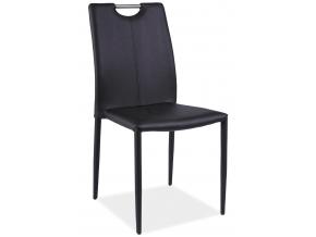 Jedálenská stolička H-322 / čierna