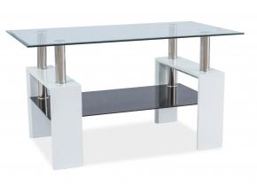 Konferenčný stolík LISA III / biely lak
