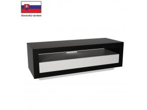 TV stolík AGNES čierna / biela