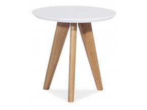 Konferenčný stolík MILAN S1 / biela