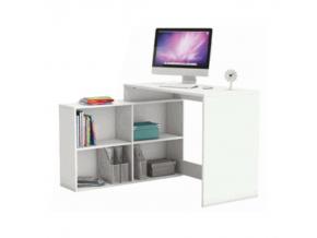 Rohový PC stolík KORNER / biela