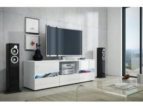 Tv stolík Global 2 biely / biely lesk