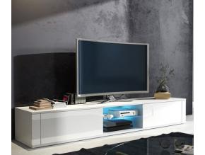 TV stolík Hit biely / biely lesk