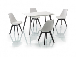 Jedálenský stôl MILAN / 120x80 čierna-biela