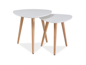 Konferenčný stolík NOLAN A / biela