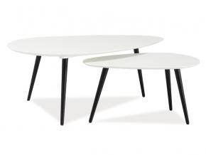 Konferenčný stolík NOLAN B čierna/biela