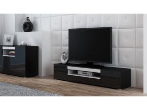 TV stolík Viva čierna/čierny lesk/biela