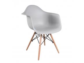 Stolička DAMEN / sivá