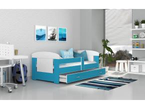 moderna detska farebna postel FILIP COLOR biela modra