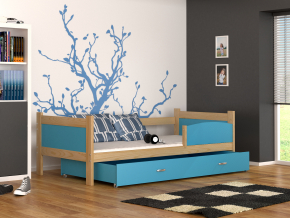 detska postel TWIST P borovica modry