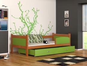 detska postel TWIST P jelda zeleny