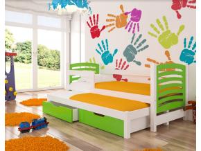 avila detská posteľ biela zelená