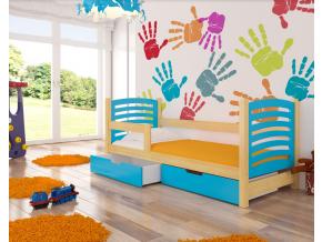 camino detská posteľ modrá
