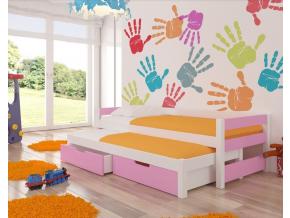 detska kvalitna postel s prostelkou FRAGA biela siva