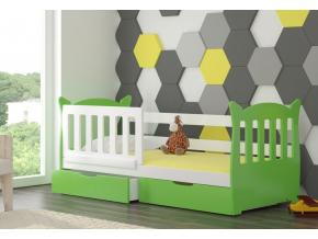 lena detská posteľ biela zelená