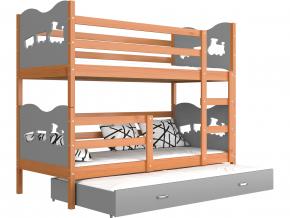 poschodova postel s pristelkou MAX 3 jelsa siva