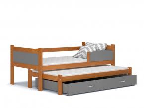 detska postel s pristelkou TWIST P2 jelsa siva
