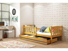 jednolozkova postel KUBUS P siva zelena