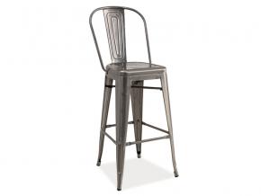 moderna barova stolicka LOFT lestena ocel