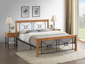 moderna kovova manzelska postel SORIA