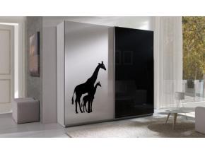 šatníková skriňa twister 4 žirafa