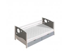 moderna detska drevena postel KEVIN jednolozkova