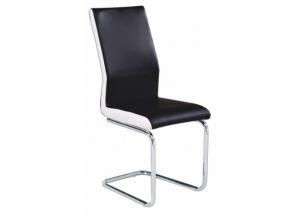 neana jedálenská stolička čierna biela