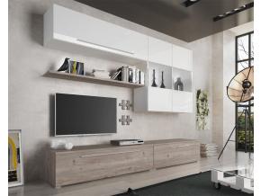 moderna biela leskla obyvacia stena SOFI