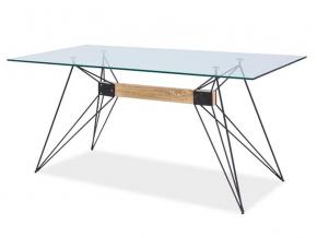 moderny skleneny jedalensky stol SANTO