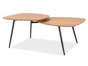 moderny kovovo dreveny konferencny stolik ZOE