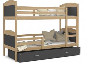 mateusz detská poschodová posteľ borovica sivá