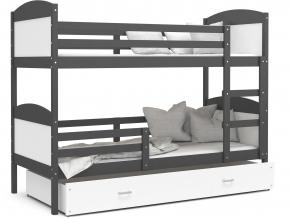 mateusz detská poschodová posteľ biela červená