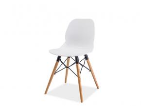 moderna biela jedalenska stolicka ITALO I