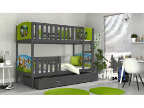 detska poschodova postel TAMI siva