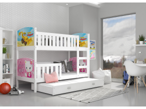 moderna biela detska postel TAMI 3 biela