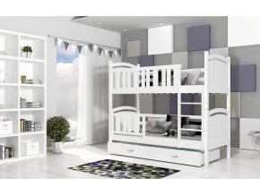 tami detská poschodová posteľ color biela biela .