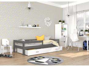 detska postel HUGO siva biela
