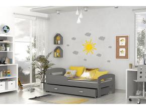grzes detská posteľ sivá sivá