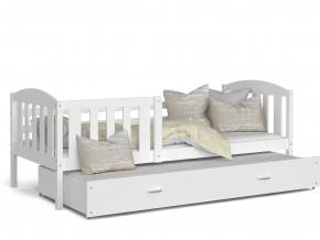 detska postel s pristelkou KUBUŠ P2 biela