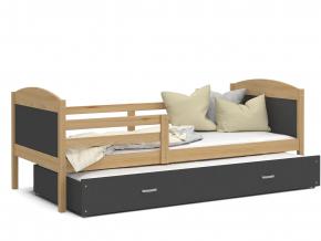 detska postel s pristelkou MATEUSZ borovica siva