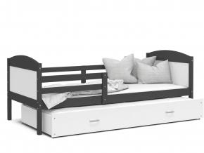 detska postel s pristelkou MATEUSZ siva biela