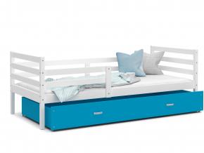 prakticka detska postel JACEK P biela modra