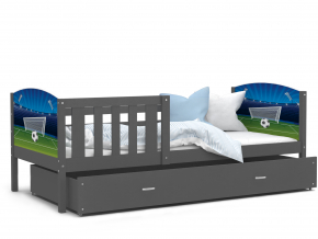 Tami P detská posteľ sivá vzor 04