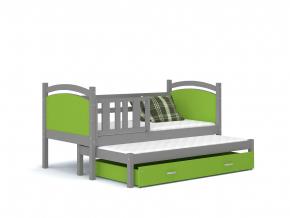 Tami P2 detská posteľ sivá zelená