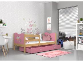 max p detská posteľ borovica biela